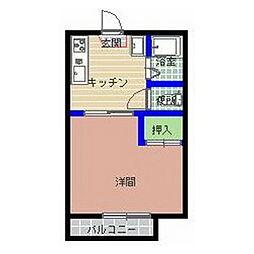 袴塚アルファ[205号室]の間取り