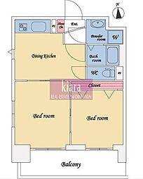 ファーストクラス横浜第2[4階]の間取り