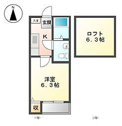 コンパートハウス上飯田[1階]の間取り