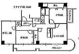 第43長栄大晋メゾネ西院ノ森[805号室号室]の間取り