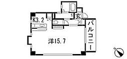 広島電鉄9系統 白島駅 白島九軒町下車 徒歩8分の賃貸マンション 3階1Kの間取り