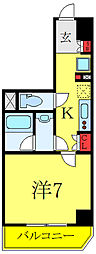 (仮称)レオーネ高島平 7階1Kの間取り