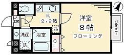 クラリスハウス[1階]の間取り