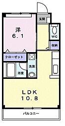 サンキューマンション[1階]の間取り