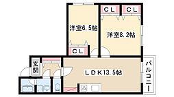 愛知県名古屋市南区鶴田1丁目の賃貸マンションの間取り