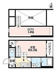 インフィールド箱崎[2階]の間取り