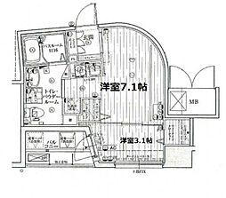 アドバンス西梅田IVエ−ル[12階]の間取り