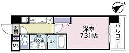 CENTERMARK(センターマーク)三萩野 8階1Kの間取り
