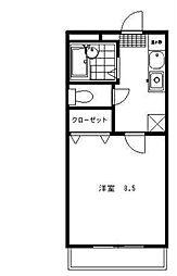 徳島県徳島市南庄町1丁目の賃貸マンションの間取り