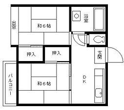 金子ビル[4階]の間取り