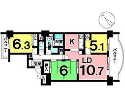 間取り3LDK 全居室収納ありやっぱりあるとうれしい和室付の物件です。