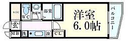 Osaka Metro御堂筋線 中津駅 徒歩6分の賃貸マンション 3階1Kの間取り