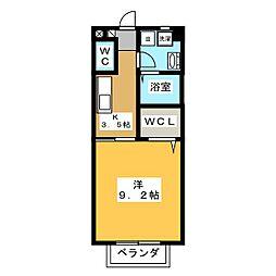 コーポNOBUNAGA[2階]の間取り