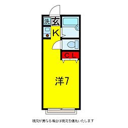 ハイツ恵II[2階]の間取り