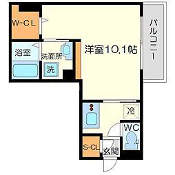 (仮称)東淀川区菅原D-room 1階1Kの間取り