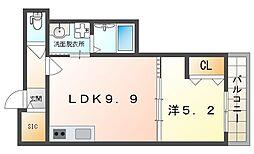 セレニティ八雲北町2丁目B棟 1階1LDKの間取り