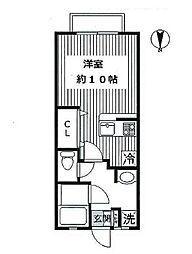 ハイツソラーナ[1階]の間取り