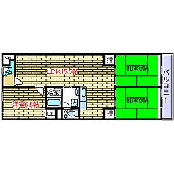 ジョイライフマンション[7階]の間取り