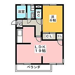 霞ヶ丘ハイツ[1階]の間取り