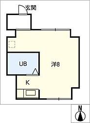 ピーコックビル[4階]の間取り