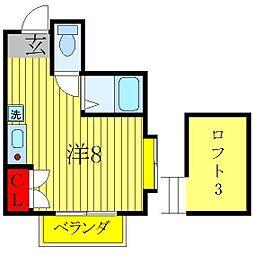 ベルクアインツ[2階]の間取り