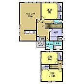 3LDKの間取りです。各部屋に収納を取り付け、使いやすいお部屋にリフォームします。