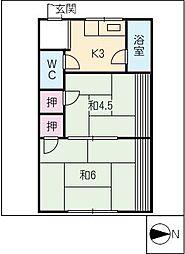 ビレッタグリーン[2階]の間取り