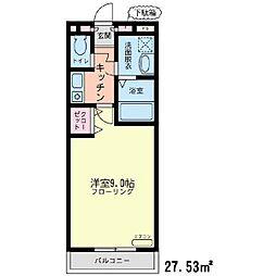 神奈川県横浜市泉区中田西3丁目の賃貸アパートの間取り