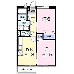 神奈川県厚木市中依知の賃貸アパートの間取り