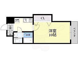 S-FORT江坂公園(旧ウォブ江坂) 10階1Kの間取り