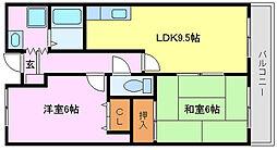 綾園セブン[1階]の間取り