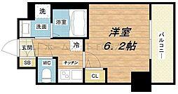 エステムコート梅田北IIゼニス[3階]の間取り