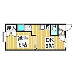 クリスタルハウス2[3階]の間取り