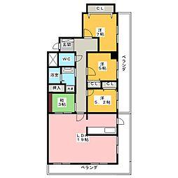 コンセール藤ヶ丘壱番館314号室[3階]の間取り