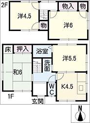 [一戸建] 愛知県名古屋市緑区四本木 の賃貸【/】の間取り