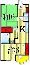 レジデンス青井[205号室]の間取り