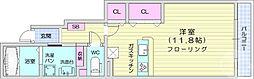 仙台市営南北線 八乙女駅 徒歩33分の賃貸アパート 1階ワンルームの間取り