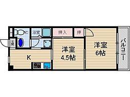 山崎第2マンション[3階]の間取り