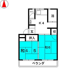 第一青木マンション[3階]の間取り