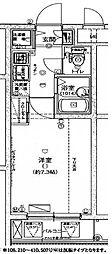 ハーモニーレジデンス東池袋ステーションフロント210 2階1Kの間取り