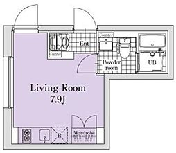 東急目黒線 西小山駅 徒歩7分の賃貸マンション 3階ワンルームの間取り