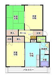 勝田プリンスマンション[1階]の間取り