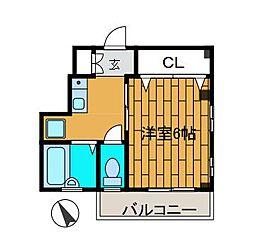 コーポK[3階]の間取り