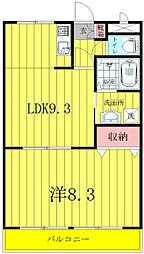 千葉県野田市次木の賃貸アパートの間取り