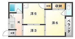 すみれマンション[3階]の間取り