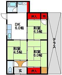 [一戸建] 福岡県古賀市今の庄2丁目 の賃貸【福岡県 / 古賀市】の間取り