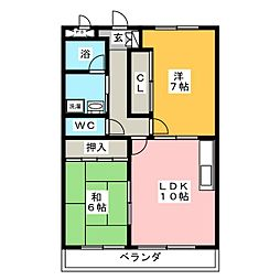 リンピア小野田II[2階]の間取り