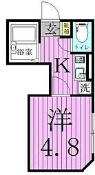 レクラン五反野[3階]の間取り
