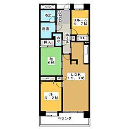 ファミールグラン北安東ブランシェ 208号室[2階]の間取り