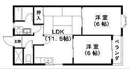 ピュアセンチュリー[3階]の間取り